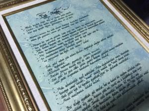 Ebru Üzeri Hat VE Kaligrafi