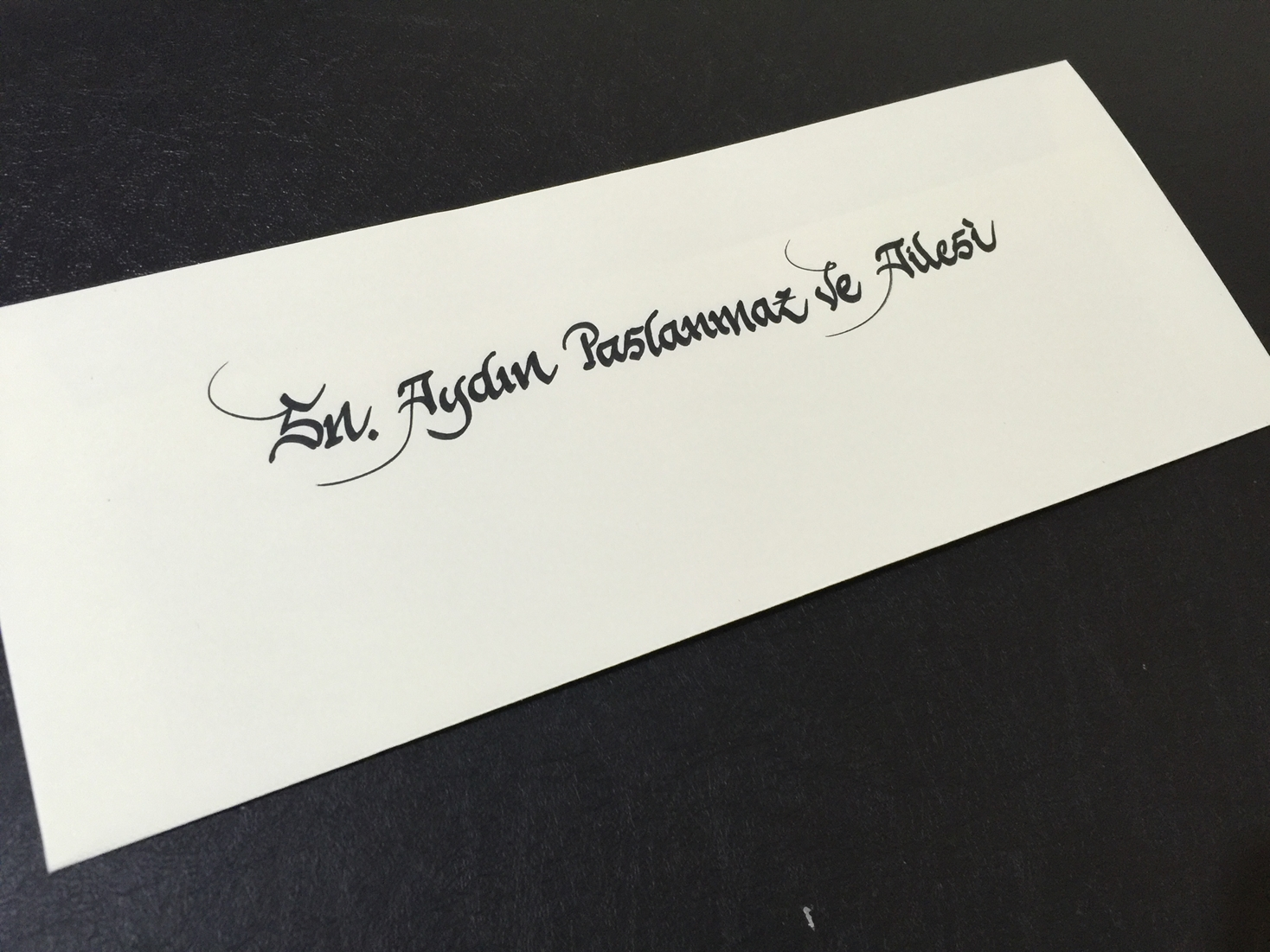 davetiye zarfı arkasına isim yazdırma