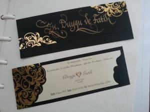 davetiye zarfına isim yazdırma