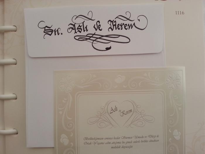 davetiyeye isim yazdırma