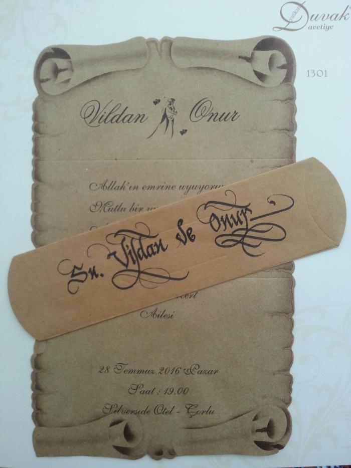 davetiyeye isim yazdırma güzel yazı sanatı ankara