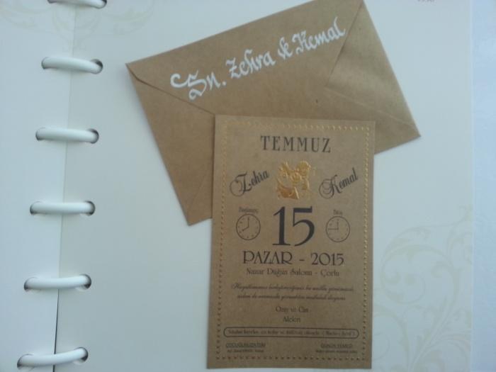 düğün davetiyesi zarfına isim yazdırma ankara