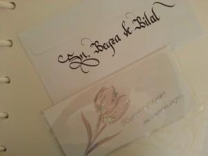 kaligrafik davetiye yazımı ankara, hattat davetiye yazımı ankara