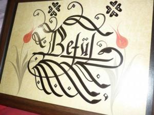 Ankarada hat sanatı , hat yazısı ile isim yazma ankara