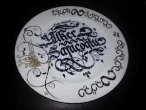 tabak üzerine yazı