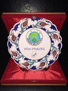 Kurumsal Hediye Logo Baskılı Çini Tabak - Sakarya, Hendek Belediyesi